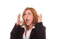 Mulher loura surpreendida Fotos de Stock Royalty Free