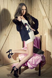 Mulher luxuosa foto de stock royalty free