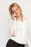 Mulher móvel Foto de Stock Royalty Free
