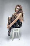 Mulher macia bonita na saia da forma imagens de stock royalty free