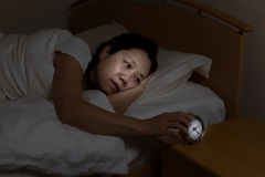 Mulher madura agitada na noite Fotos de Stock