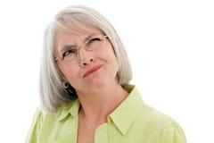 Mulher madura confundida Imagem de Stock