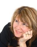 Mulher madura de sorriso de Sttractive Fotografia de Stock Royalty Free