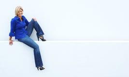 Mulher madura ocasional Imagem de Stock