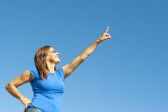 Mulher madura positiva e optimista Fotografia de Stock
