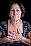 Mulher madura que sofre da dor de caixa Imagem de Stock
