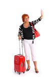 Mulher madura que vai em feriados Fotos de Stock