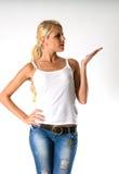 Mulher magro bonita Fotografia de Stock