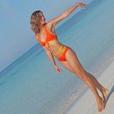 Mulher magro, conceito da dieta Fotografia de Stock Royalty Free
