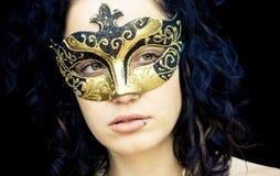Mulher mascarada Imagem de Stock