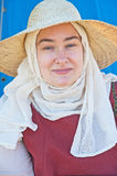 Mulher medieval do retrato Fotos de Stock Royalty Free