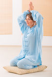 Mulher Meditating Foto de Stock