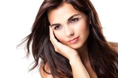 Mulher mediterrânea do tiro da beleza Imagem de Stock