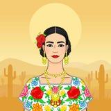 Mulher mexicana bonita no roupa nacional Imagem de Stock