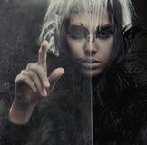 Mulher misteriosa fotografia de stock