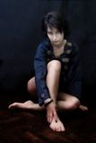 Mulher misteriosa do goth Foto de Stock Royalty Free