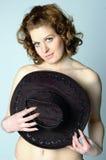 Mulher modesta Imagens de Stock Royalty Free