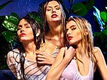 Mulher molhada com gota da água. Fotografia de Stock Royalty Free