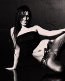 Mulher molhada nova 'sexy' Imagem de Stock