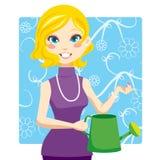 Mulher molhando Imagem de Stock Royalty Free