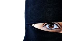 Mulher muçulmana árabe asiática foto de stock
