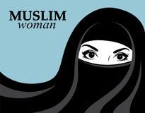 Mulher muçulmana ilustração do vetor