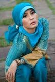 Mulher muçulmana bonita foto de stock