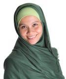 Mulher muçulmana em Hijab verde IV Fotografia de Stock Royalty Free