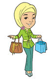 Mulher muçulmana nova no lenço principal Imagens de Stock Royalty Free