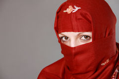 Mulher muçulmana que desgasta Hijab Imagem de Stock Royalty Free