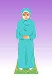 Mulher muçulmana que Praying Imagens de Stock Royalty Free