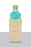 Mulher muçulmana que prepara-se antes de rezar Fotos de Stock