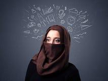 Mulher muçulmana que veste Niqab Imagens de Stock