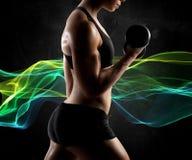 Mulher muscular da energia Imagens de Stock