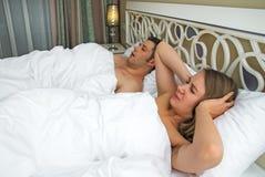 A mulher não pode dormir imagem de stock royalty free