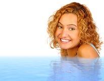 Mulher na água Fotografia de Stock Royalty Free