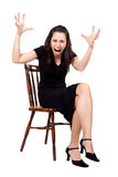 Mulher na cadeira Fotografia de Stock Royalty Free