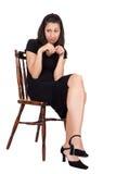 Mulher na cadeira Imagens de Stock Royalty Free
