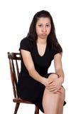 Mulher na cadeira Imagem de Stock Royalty Free
