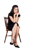 Mulher na cadeira Foto de Stock Royalty Free