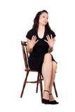 Mulher na cadeira Fotos de Stock