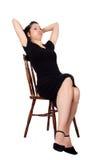 Mulher na cadeira Foto de Stock