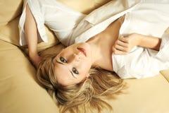 Mulher na camisa Imagem de Stock Royalty Free