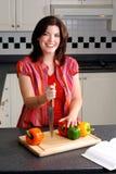 Mulher na cozinha imagem de stock royalty free