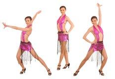 Mulher na dança do vestido do esporte. foto de stock royalty free