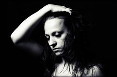 Mulher na depressão foto de stock