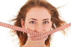 Mulher na dieta fotografia de stock