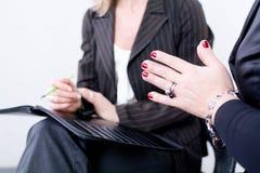 Mulher na entrevista de trabalho Fotos de Stock Royalty Free