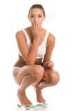 Mulher na escala Fotos de Stock Royalty Free