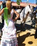 Mulher na féria Foto de Stock